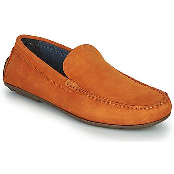 鞋子 男士 皮便鞋 André BIOUTY 橙色