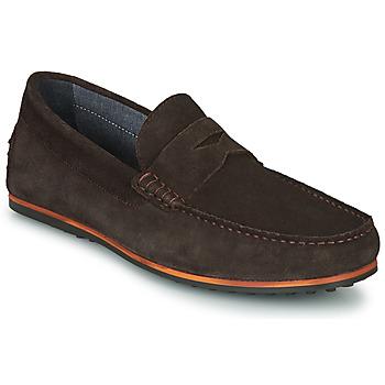 鞋子 男士 皮便鞋 André SKY 棕色