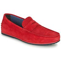 鞋子 男士 皮便鞋 André SKY 红色