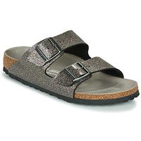 鞋子 女士 休閑涼拖/沙灘鞋 Birkenstock 勃肯 ARIZONA 黑色 / 銀色