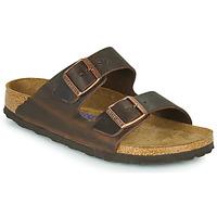 鞋子 女士 休闲凉拖/沙滩鞋 Birkenstock 勃肯 ARIZONA SFB LEATHER 棕色