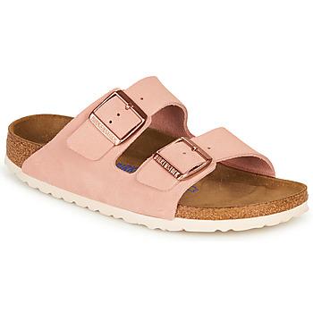 鞋子 女士 休闲凉拖/沙滩鞋 Birkenstock 勃肯 ARIZONA SFB LEATHER 玫瑰色