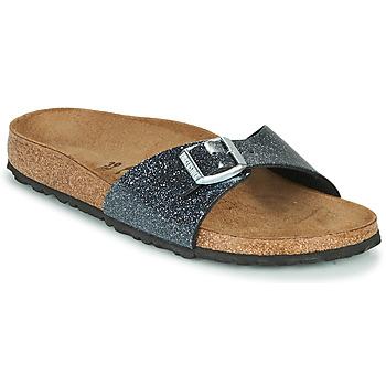 鞋子 女士 休閑涼拖/沙灘鞋 Birkenstock 勃肯 MADRID 黑色 / 銀色