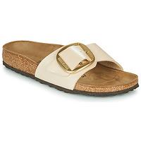 鞋子 女士 休闲凉拖/沙滩鞋 Birkenstock 勃肯 MADRID BIG BUCKLE Graceful / Pearl / 白色