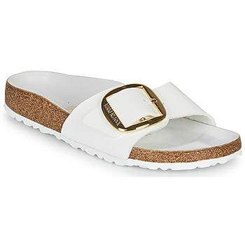 鞋子 女士 休闲凉拖/沙滩鞋 Birkenstock 勃肯 MADRID BIG BUCKLE 白色 / 漆皮