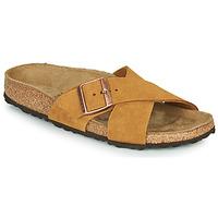 鞋子 女士 休闲凉拖/沙滩鞋 Birkenstock 勃肯 SIENA LEATHER 驼色