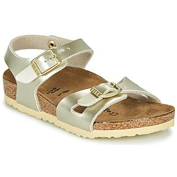 鞋子 女孩 凉鞋 Birkenstock 勃肯 RIO 金色