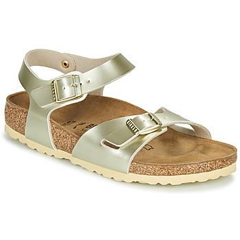 鞋子 女孩 涼鞋 Birkenstock 勃肯 RIO 金色