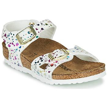 鞋子 女孩 凉鞋 Birkenstock 勃肯 RIO 白色 / 多彩