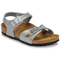鞋子 女孩 凉鞋 Birkenstock 勃肯 RIO 金色 / 银灰色