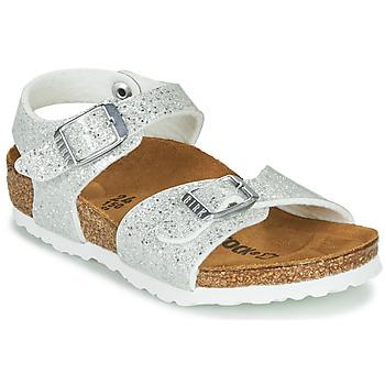 鞋子 女孩 凉鞋 Birkenstock 勃肯 RIO PLAIN 白色