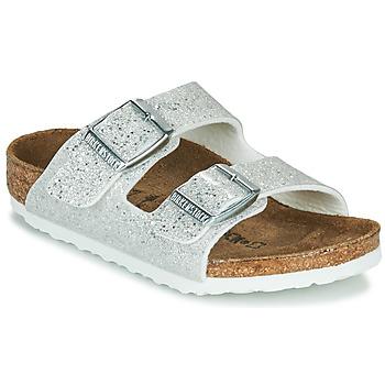 鞋子 女孩 休闲凉拖/沙滩鞋 Birkenstock 勃肯 ARIZONA Cosmic / Sparkle / 白色