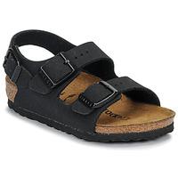鞋子 男孩 凉鞋 Birkenstock 勃肯 MILANO 裸色 / 黑色