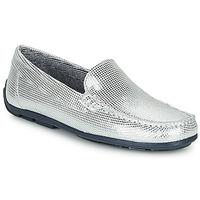 鞋子 女孩 皮便鞋 André MANU 银灰色