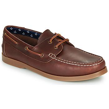 鞋子 男士 船鞋 André NAUTING 棕色
