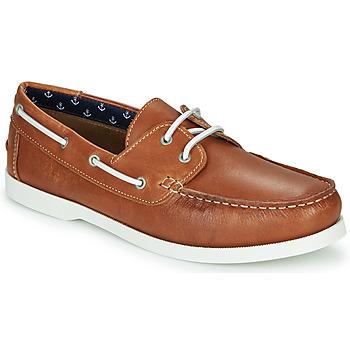 鞋子 男士 船鞋 André NAUTING 驼色
