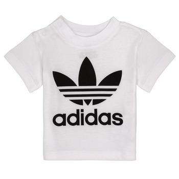衣服 儿童 短袖体恤 Adidas Originals 阿迪达斯三叶草 MAELYS 白色