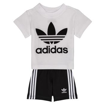 衣服 儿童 女士套装 Adidas Originals 阿迪达斯三叶草 CAROLINE 白色 / 黑色