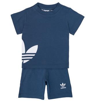 衣服 男孩 女士套装 Adidas Originals 阿迪达斯三叶草 CYLIA 蓝色