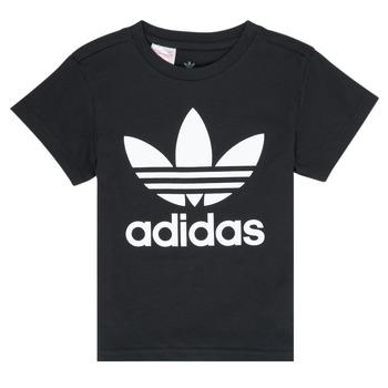 衣服 儿童 短袖体恤 Adidas Originals 阿迪达斯三叶草 LEILA 黑色