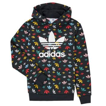 衣服 女孩 卫衣 Adidas Originals 阿迪达斯三叶草 DLIA 黑色