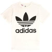 衣服 兒童 短袖體恤 Adidas Originals 阿迪達斯三葉草 SARAH 白色