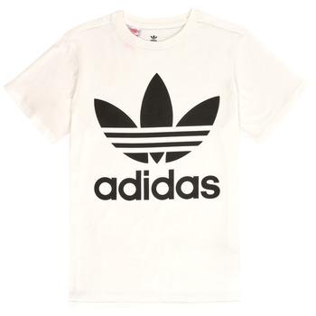 衣服 儿童 短袖体恤 Adidas Originals 阿迪达斯三叶草 SARAH 白色