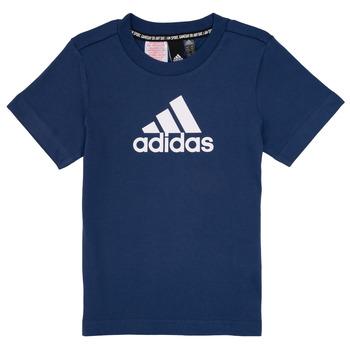 衣服 男孩 短袖体恤 adidas Performance 阿迪达斯运动训练 BRIAN 海蓝色