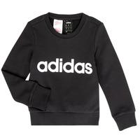 衣服 女孩 卫衣 adidas Performance 阿迪达斯运动训练 MED 黑色