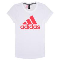 衣服 女孩 短袖体恤 adidas Performance 阿迪达斯运动训练 ELIOTE 白色