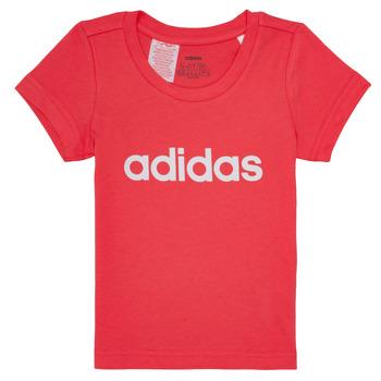 衣服 女孩 短袖体恤 adidas Performance 阿迪达斯运动训练 MAKIT 玫瑰色
