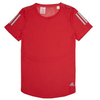 衣服 女孩 短袖體恤 adidas Performance 阿迪達斯運動訓練 MELINDA 紅色