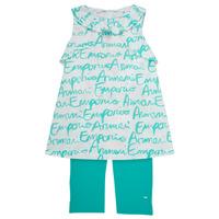 衣服 女孩 女士套装 Emporio Armani Adel 白色 / 蓝色