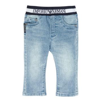 衣服 男孩 直筒牛仔裤 Emporio Armani Ange 蓝色