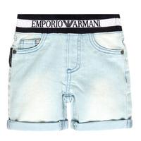 衣服 男孩 短裤&百慕大短裤 Emporio Armani Ariel 蓝色