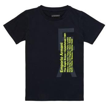 衣服 男孩 短袖体恤 Emporio Armani Andoni 海蓝色