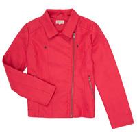 衣服 女孩 皮夾克/ 人造皮革夾克 Only KONCARLA 玫瑰色