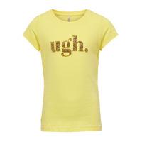 衣服 女孩 短袖体恤 Only KONJULLA 黄色