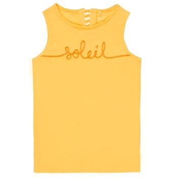 衣服 女孩 无领短袖套衫/无袖T恤 Name it NKFFAMILA 黄色