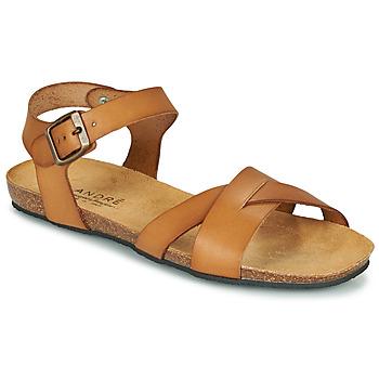 鞋子 女士 凉鞋 André BREHAT 驼色
