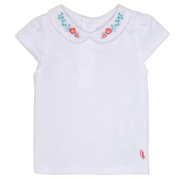 衣服 女孩 短袖体恤 Carrément Beau MAYVE 白色