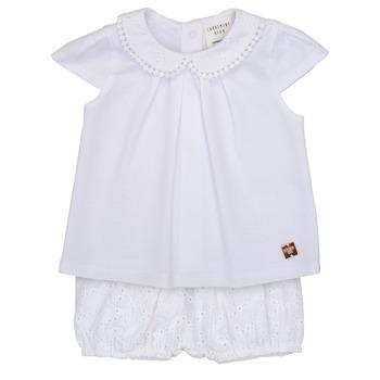 衣服 女孩 女士套装 Carrément Beau LORELLI 白色