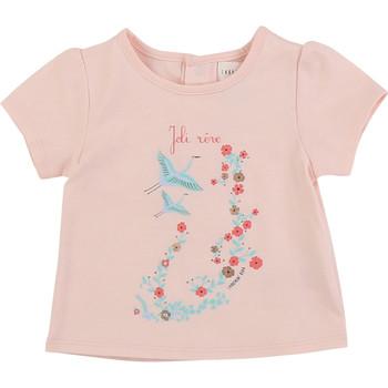 衣服 女孩 短袖体恤 Carrément Beau JUSTINE 玫瑰色