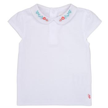 衣服 女孩 短袖体恤 Carrément Beau JULIEN 白色