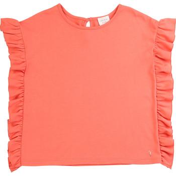 衣服 女孩 短袖体恤 Carrément Beau LEANA 玫瑰色