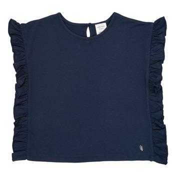 衣服 女孩 短袖体恤 Carrément Beau KAMILLIA 蓝色