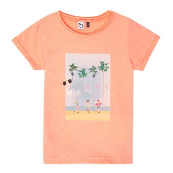 衣服 女孩 短袖体恤 3 Pommes LEA 橙色