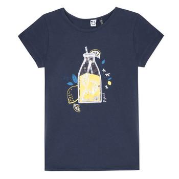 衣服 女孩 短袖体恤 3 Pommes LOGAN 蓝色