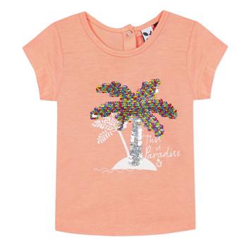 衣服 女孩 短袖体恤 3 Pommes EMMA 橙色