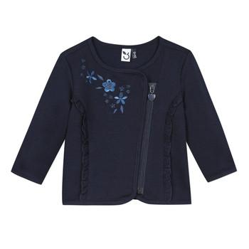 衣服 女孩 羊毛开衫 3 Pommes TEVAI 蓝色